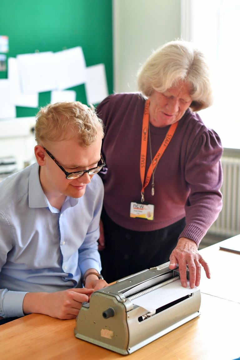 Teaching Braille to student who is visually impaired