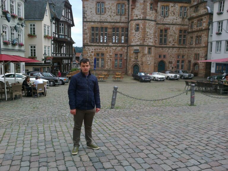 Harrison at the Marktplatz