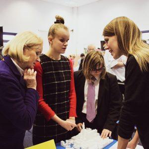 Students exploring careers fair