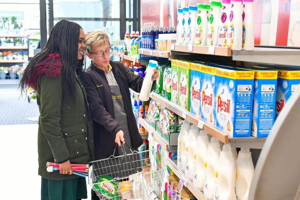 Student using shop assistance