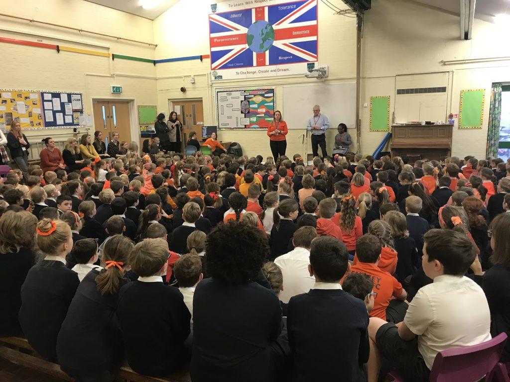 Schools - Go orange assembly