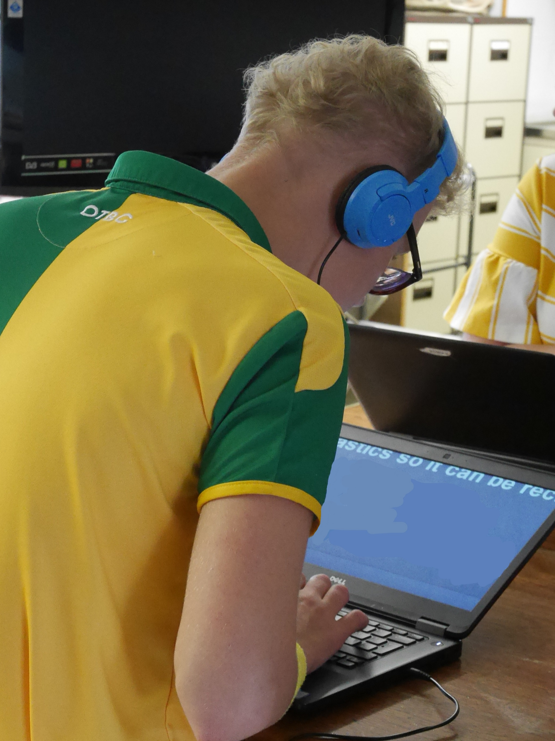 Events - student using a lap top