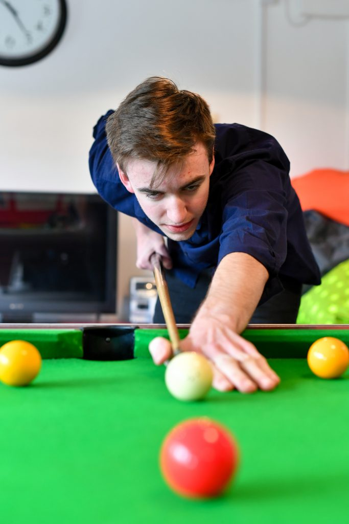 Students - playing pool