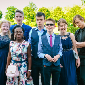 Group of students at Leavers Dinner
