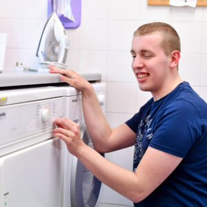 Boarding - loading the washing machine