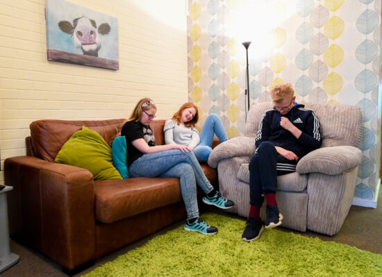 Boarding - students relaxing in the sitting room