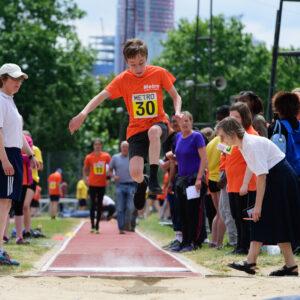 Student Long Jump at Metro Athletics