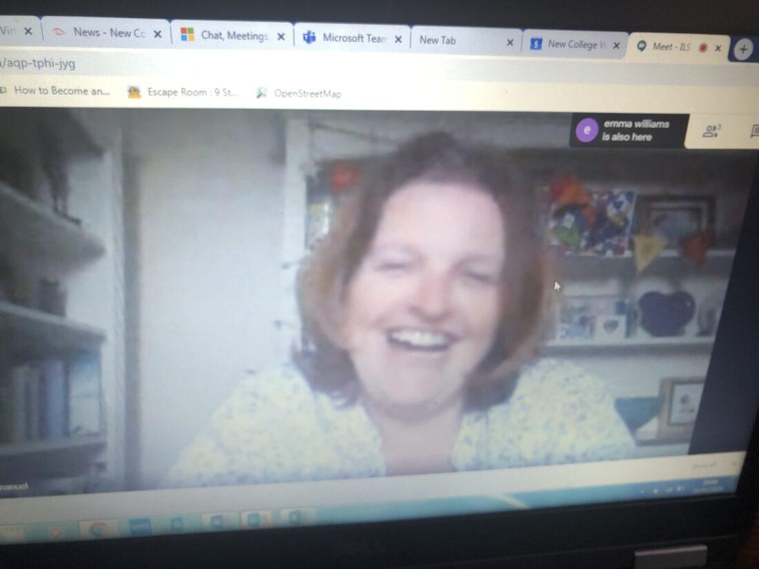 Nathalie Emanuel runs a Q&A session