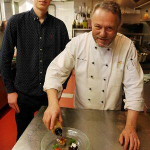 Stuart with Chef Felice Tocchini