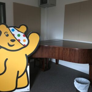 Pudsey giving us a wave in the Music department