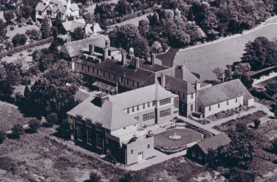 Aerial view Worcester College for the Blind
