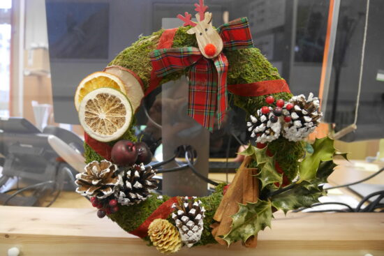 A wreath by Year 7 student Len