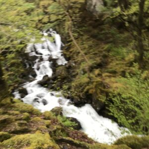 Beautiful waterfall en route to the summit