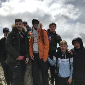Students posing for a photo at the summit