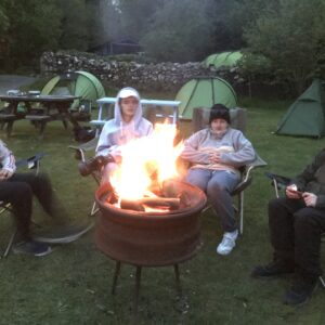 Back at camp around the fire