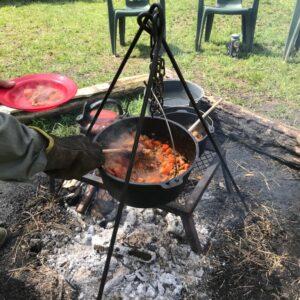 Campfire stew!