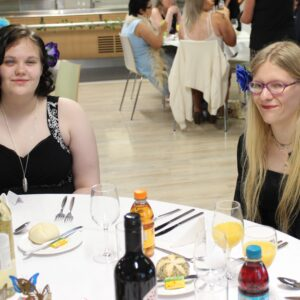 Danni and Syd at their table