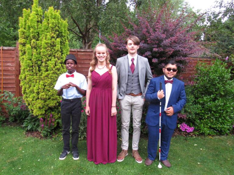 Students Samih, Martha, Tom and Haris