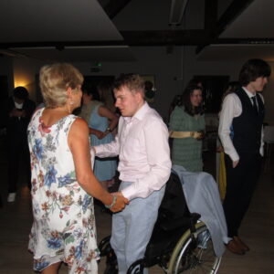 Jack having a boogie with Julie