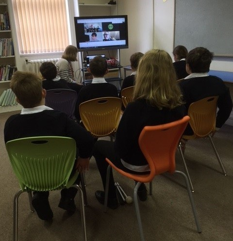 Students meeting with Ben during their History lesson