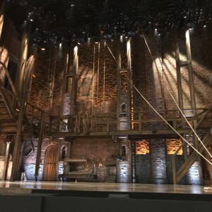 View of the stage before the performance started