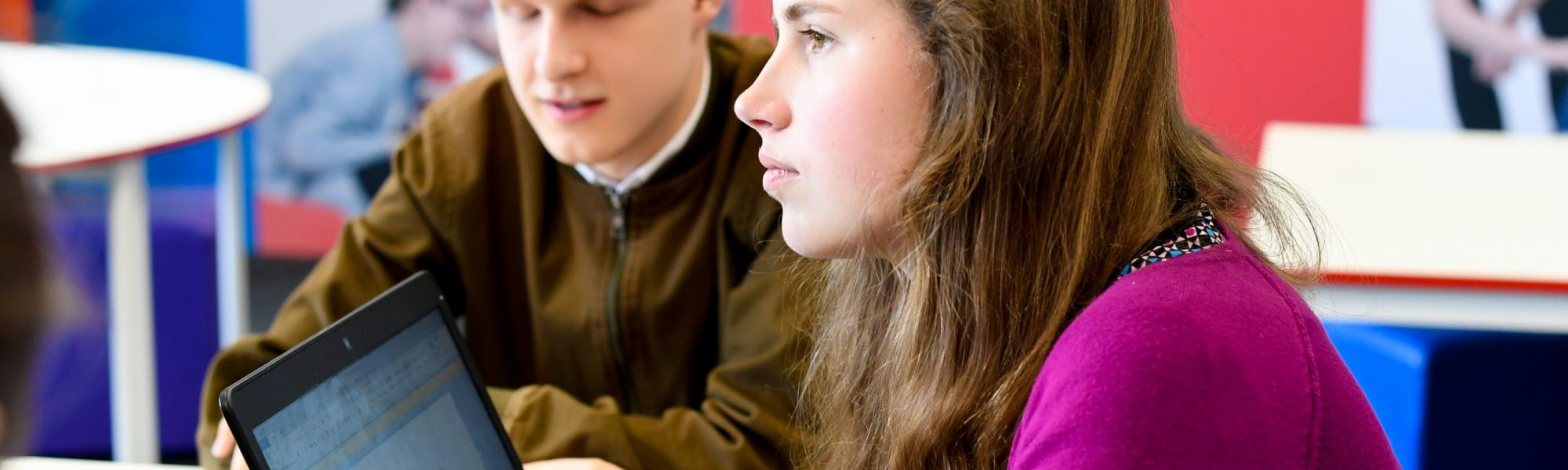 Students - Freya and Luke
